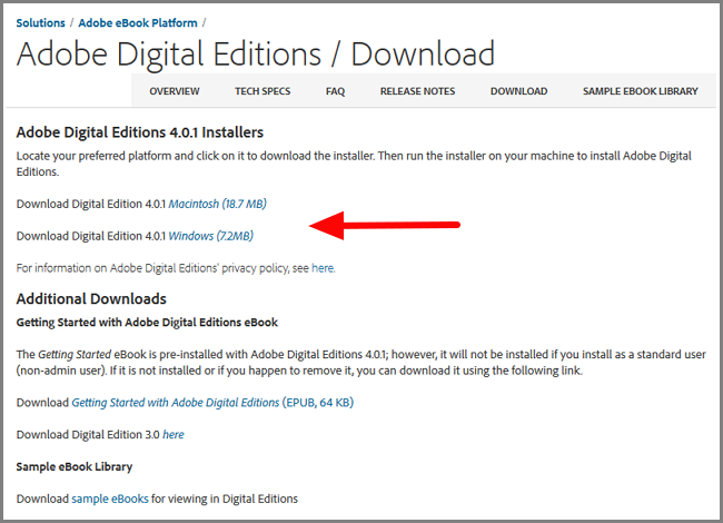 Descargar Adobe Digital Editions