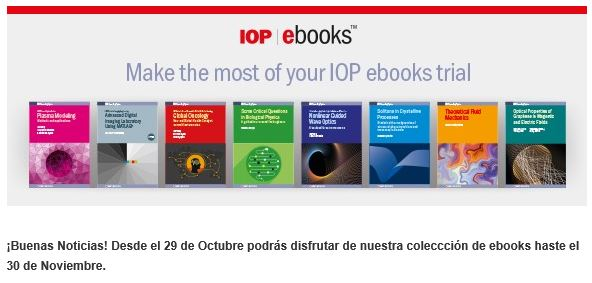 IOP Publishing: Libros electrónicos en prueba