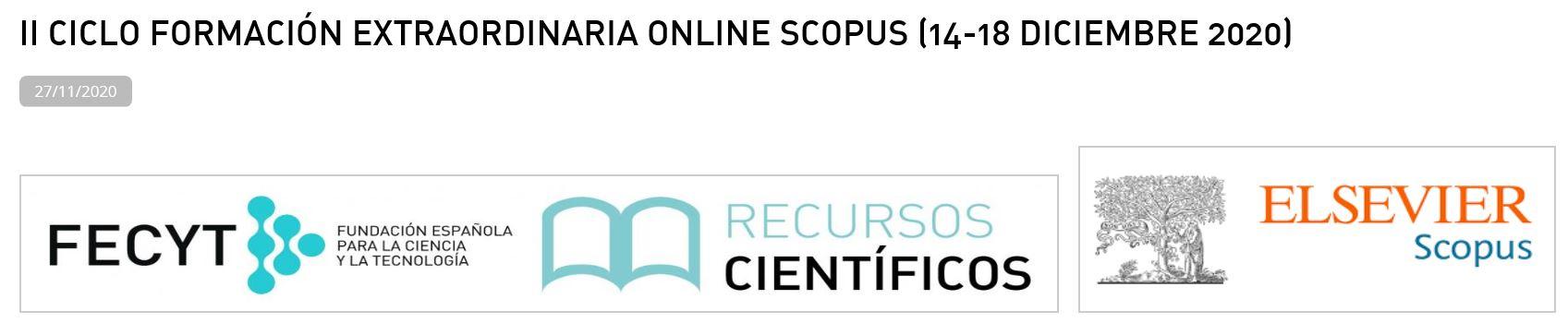 II Ciclo de Formación Online Socpus 2020